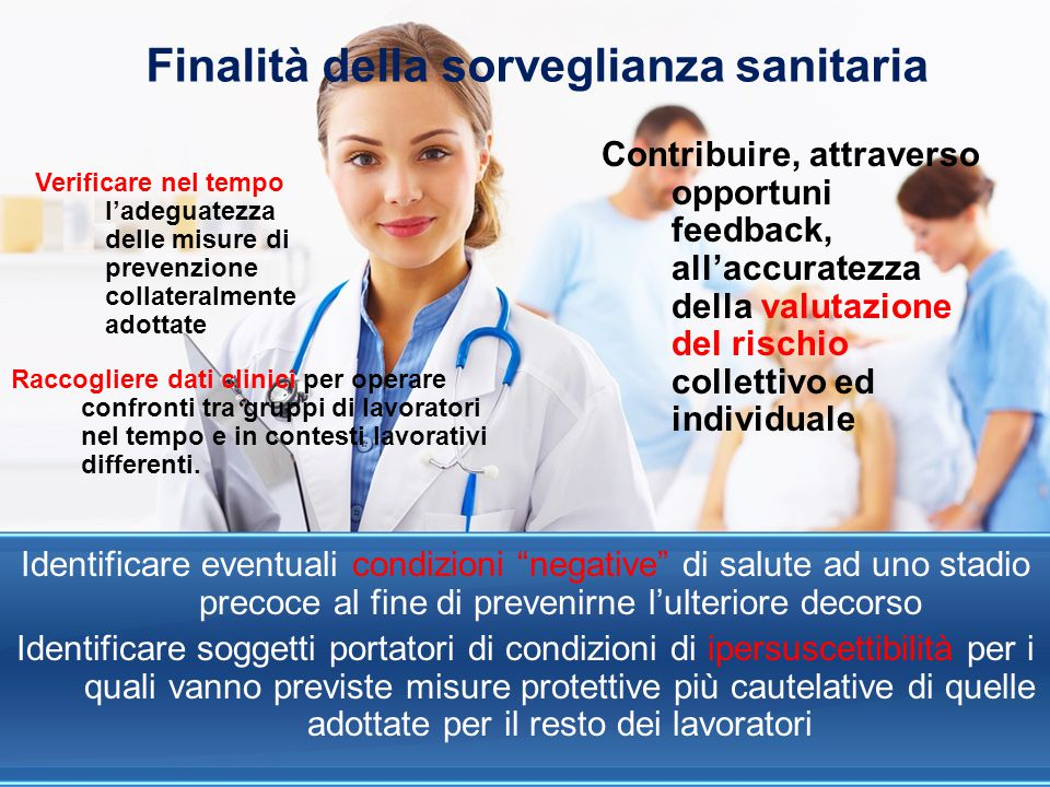 Finalità della sorveglianza sanitaria