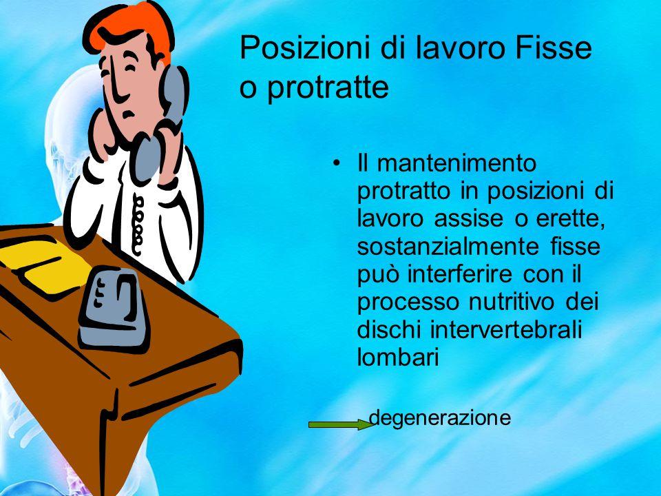 Posizioni di lavoro Fisse o protratte