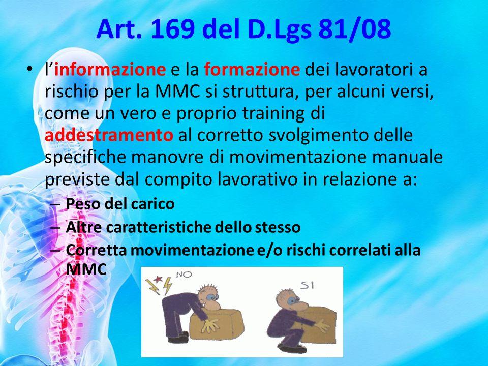 Art. 169 del D.Lgs 81/08