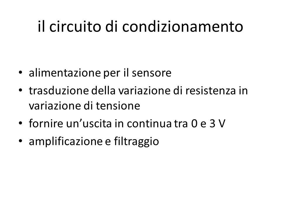 il circuito di condizionamento