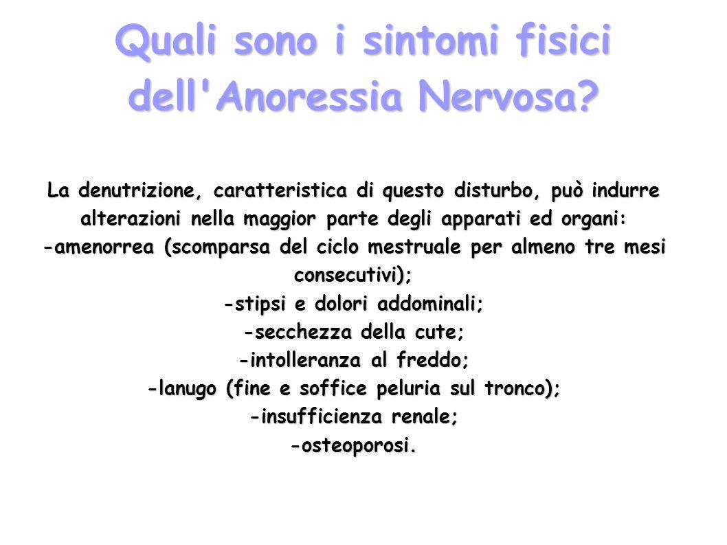 Quali sono i sintomi fisici dell Anoressia Nervosa