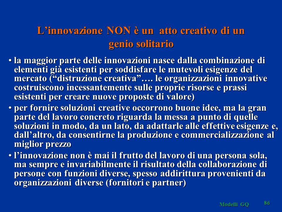 L'innovazione NON è un atto creativo di un genio solitario