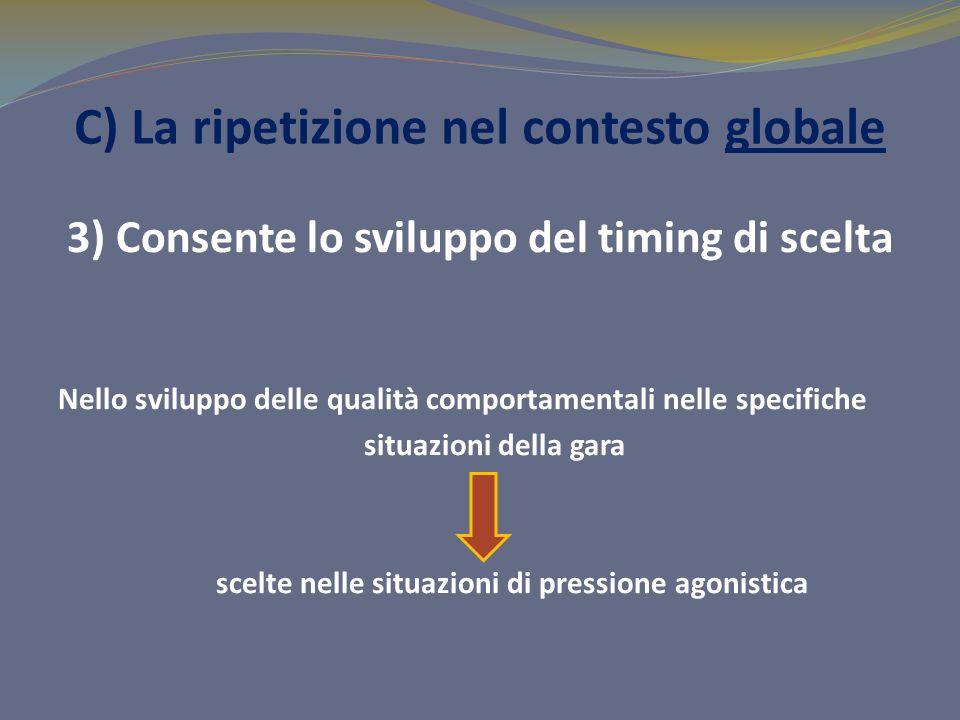 C) La ripetizione nel contesto globale