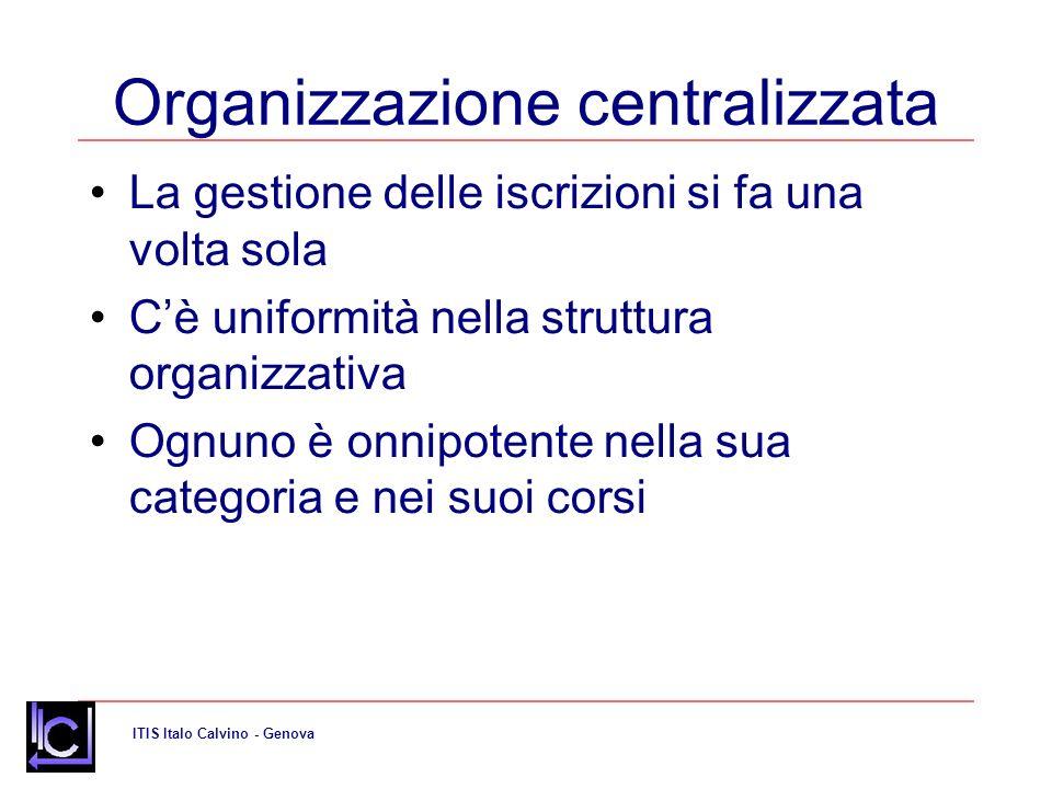 Organizzazione centralizzata