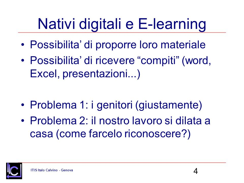 Nativi digitali e E-learning