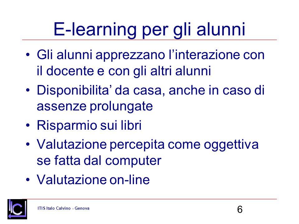 E-learning per gli alunni