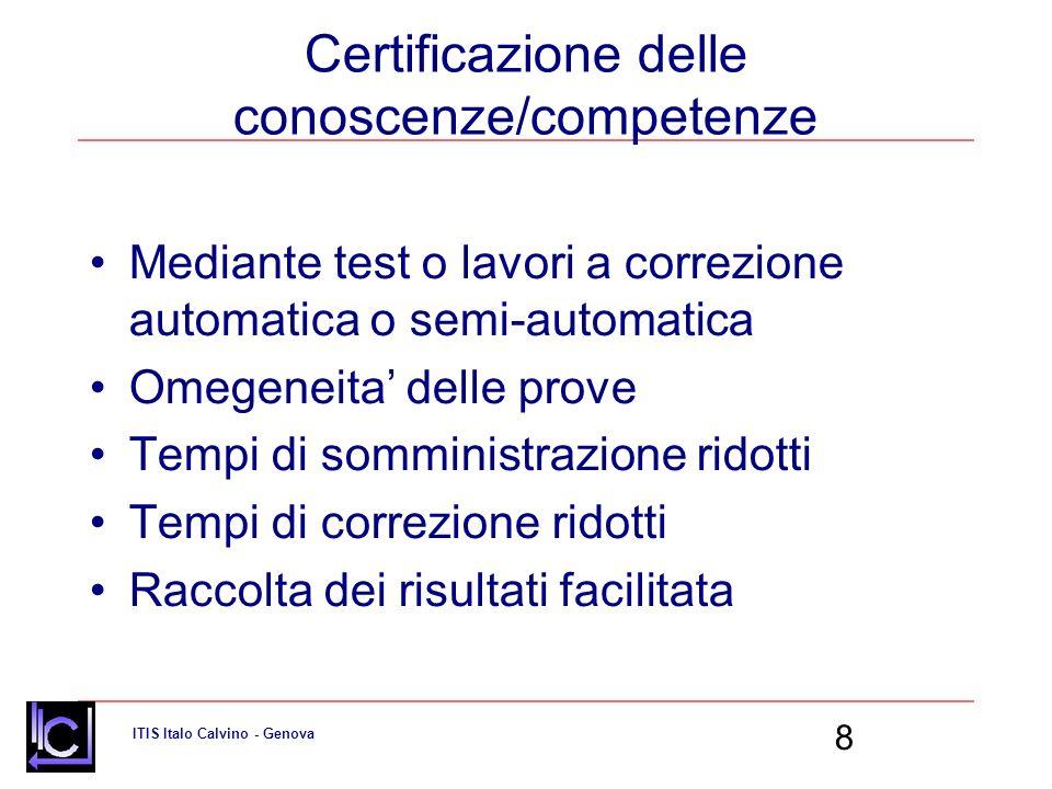 Certificazione delle conoscenze/competenze