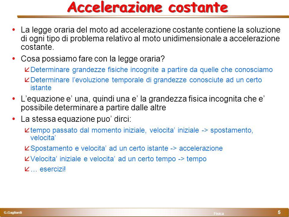 Accelerazione costante