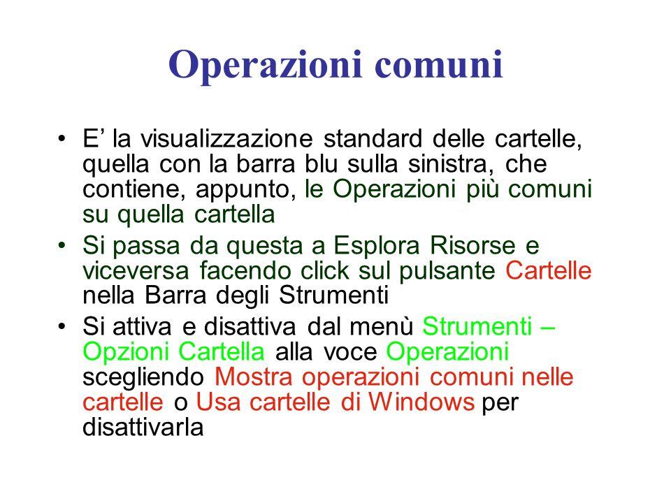 Operazioni comuni
