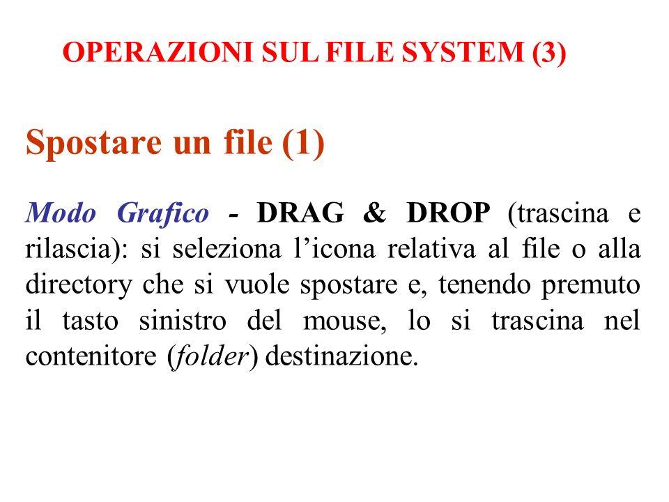Spostare un file (1) OPERAZIONI SUL FILE SYSTEM (3)