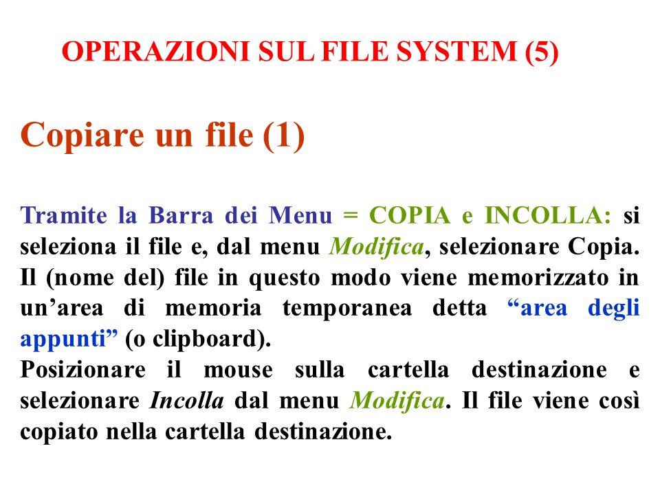 Copiare un file (1) OPERAZIONI SUL FILE SYSTEM (5)