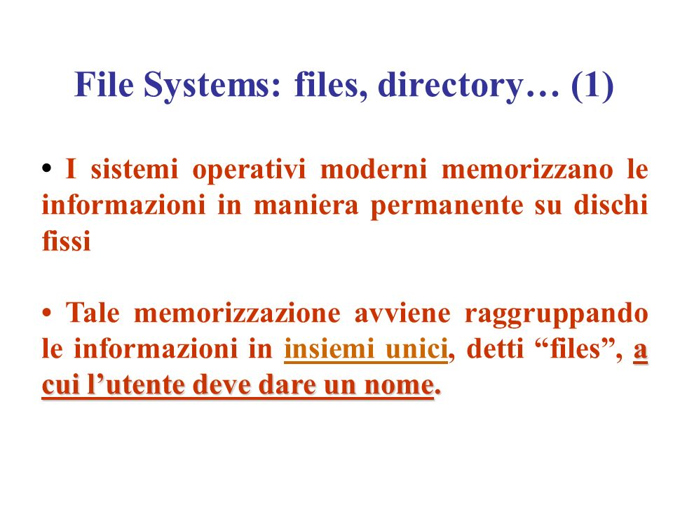 File Systems: files, directory… (1)