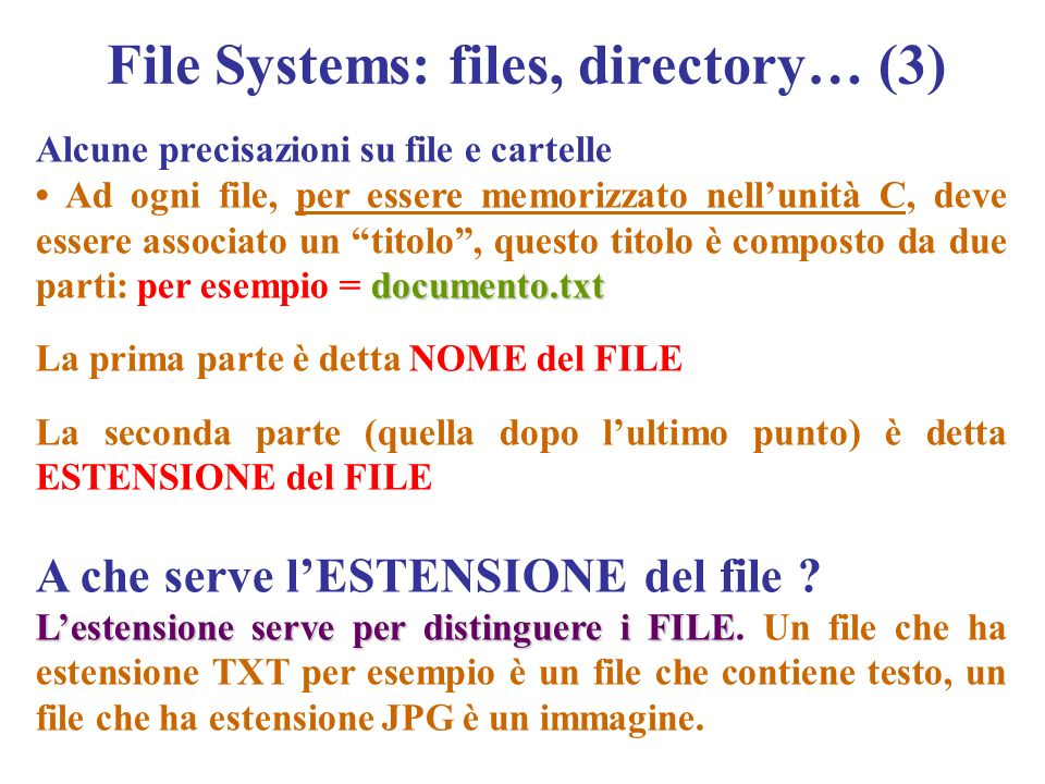 File Systems: files, directory… (3)
