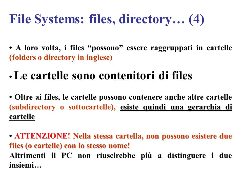 File Systems: files, directory… (4)