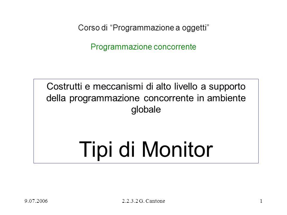 Corso di Programmazione a oggetti Programmazione concorrente