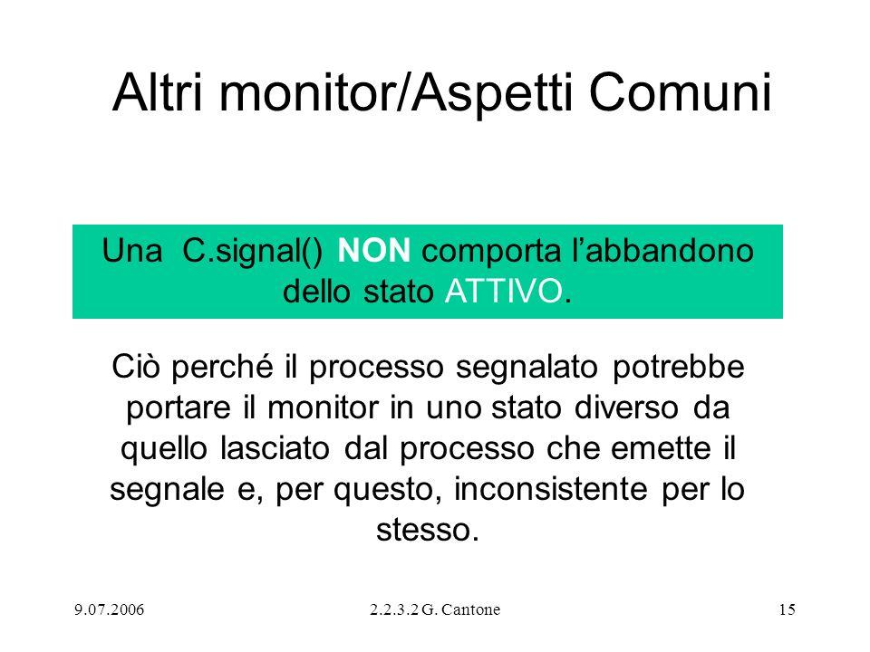 Altri monitor/Aspetti Comuni