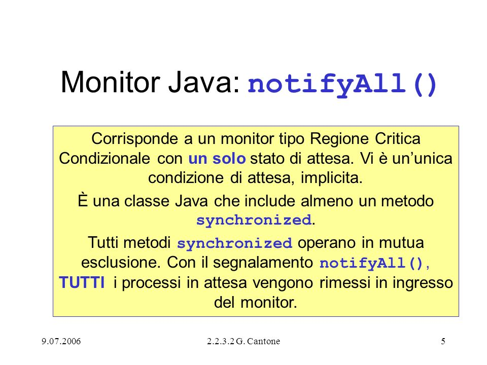 Monitor Java: notifyAll()