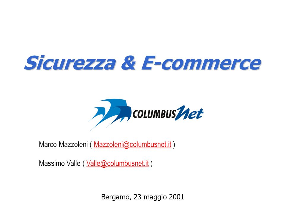 Sicurezza & E-commerce