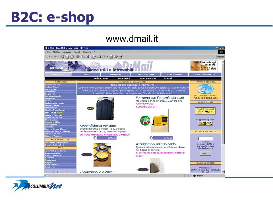 B2C: e-shop www.dmail.it