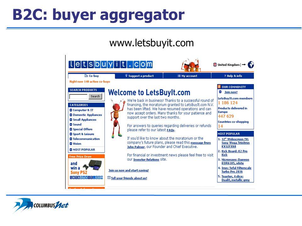 B2C: buyer aggregator www.letsbuyit.com