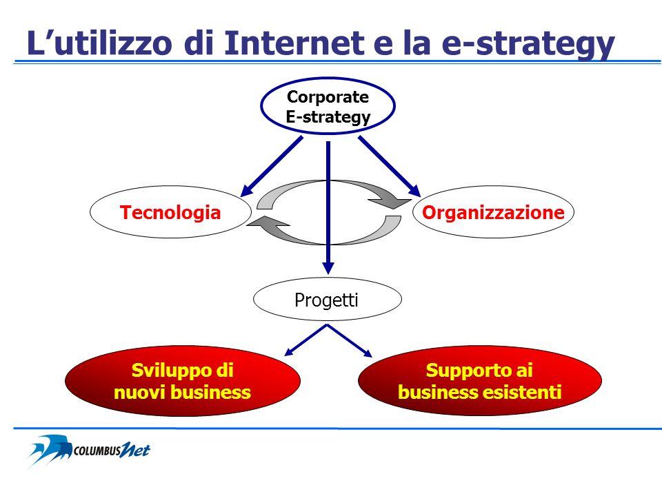 L'utilizzo di Internet e la e-strategy