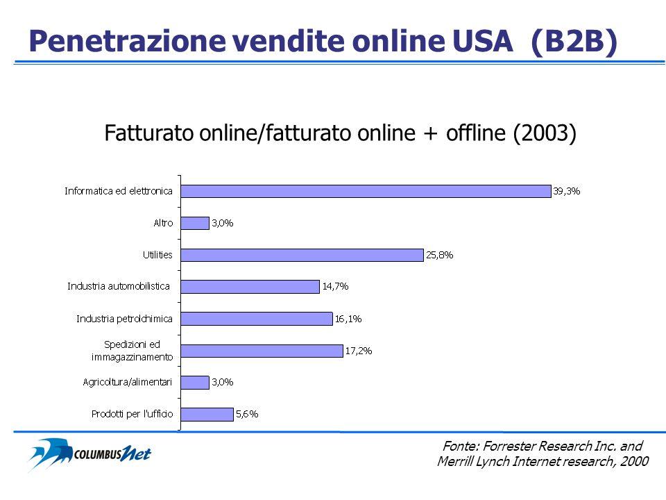 Penetrazione vendite online USA (B2B)