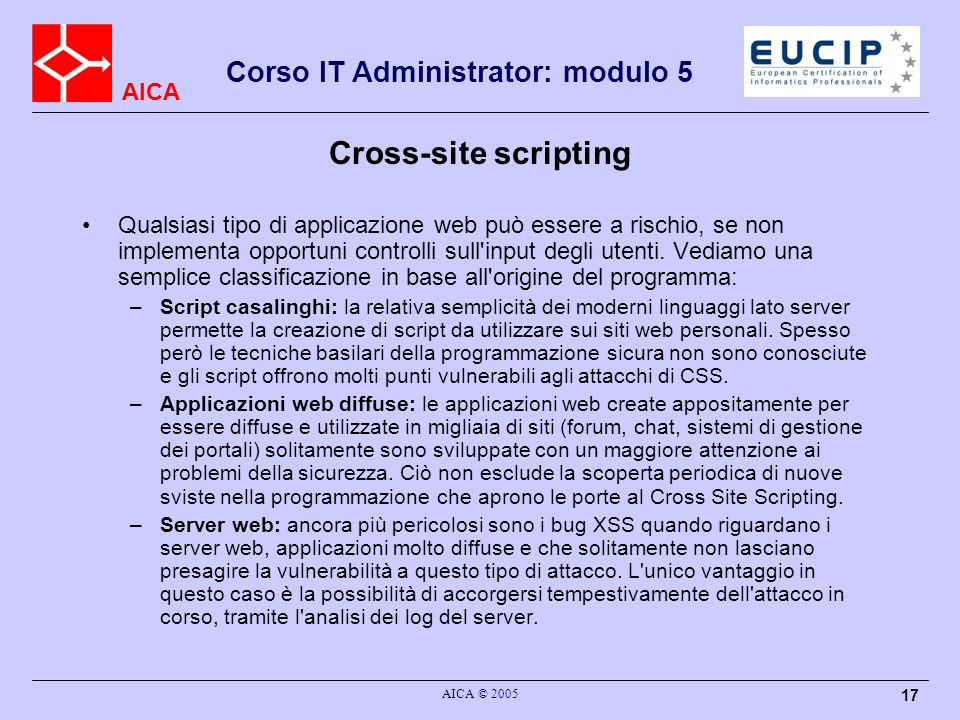 Cross-site scripting