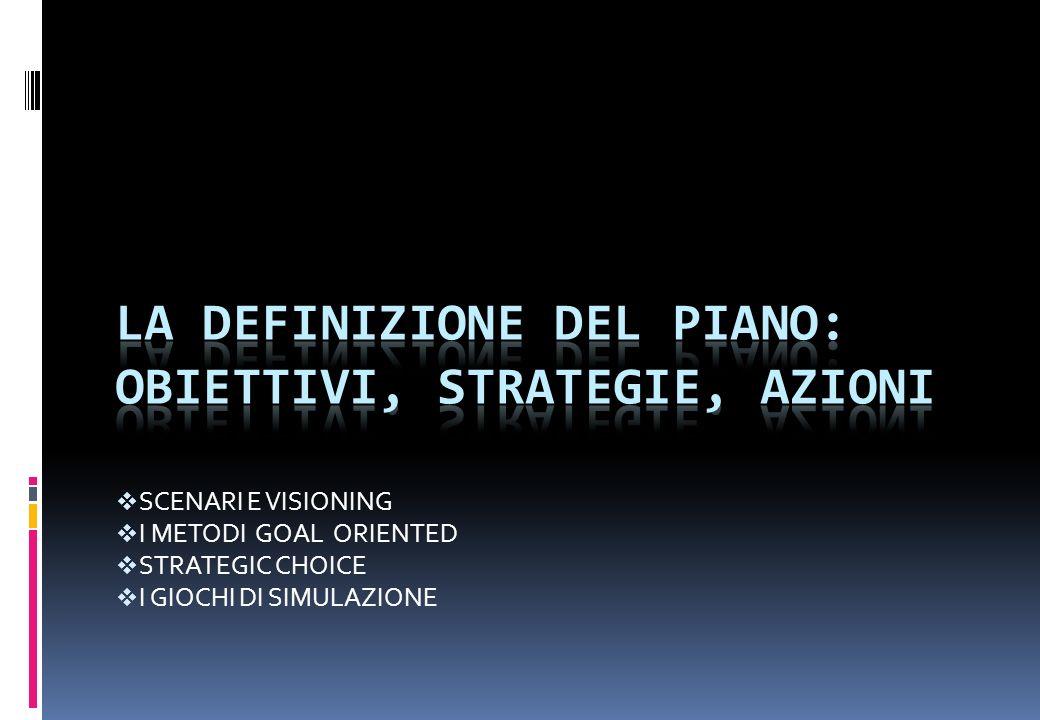 La definizione del piano: obiettivi, strategie, azioni