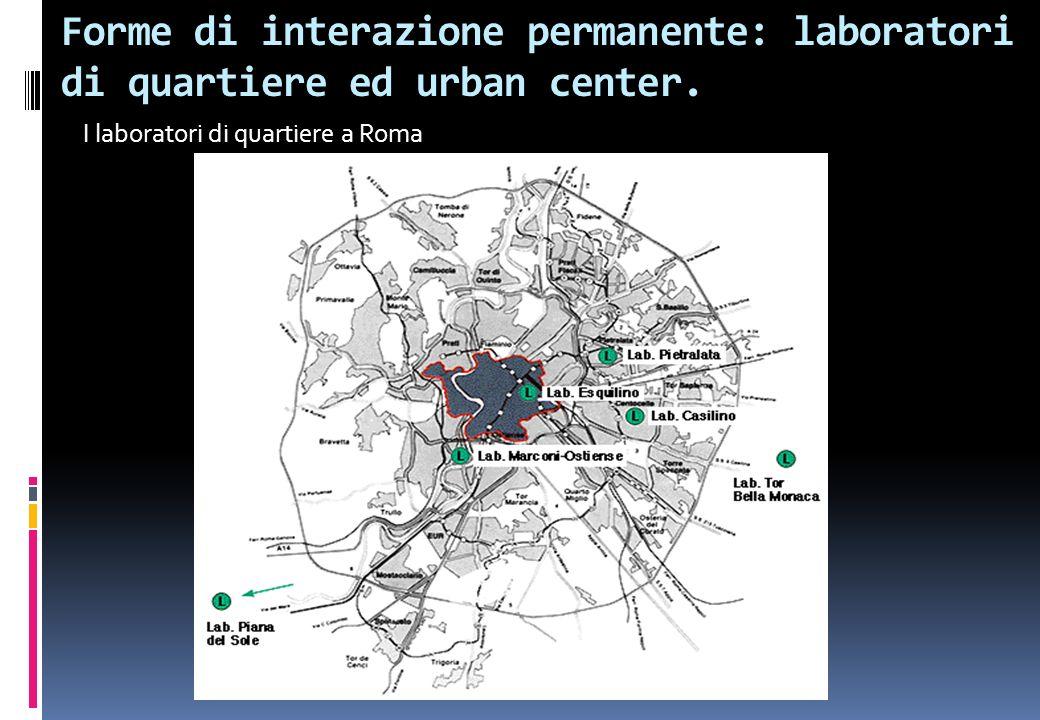 I laboratori di quartiere a Roma