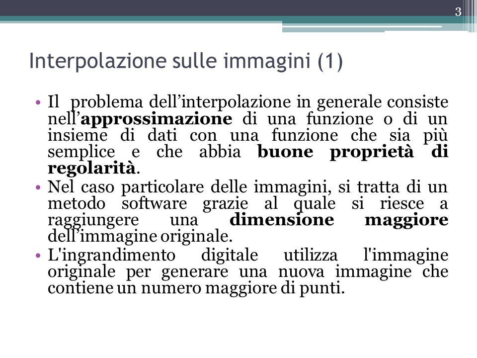 Interpolazione sulle immagini (1)