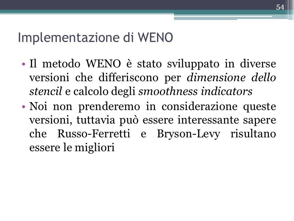 Implementazione di WENO