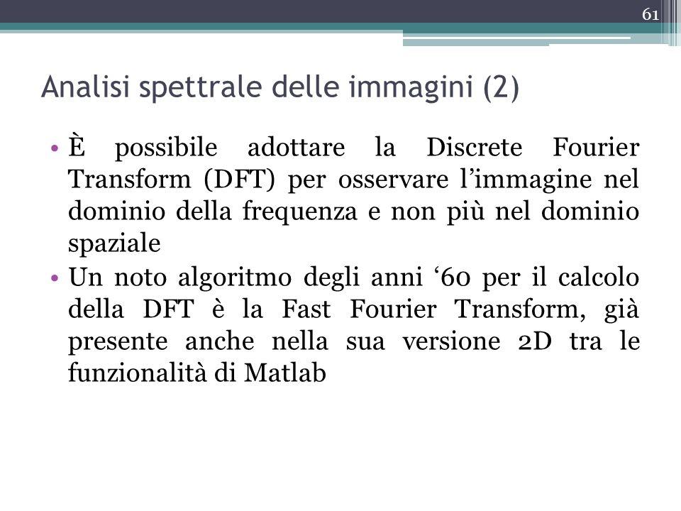 Analisi spettrale delle immagini (2)