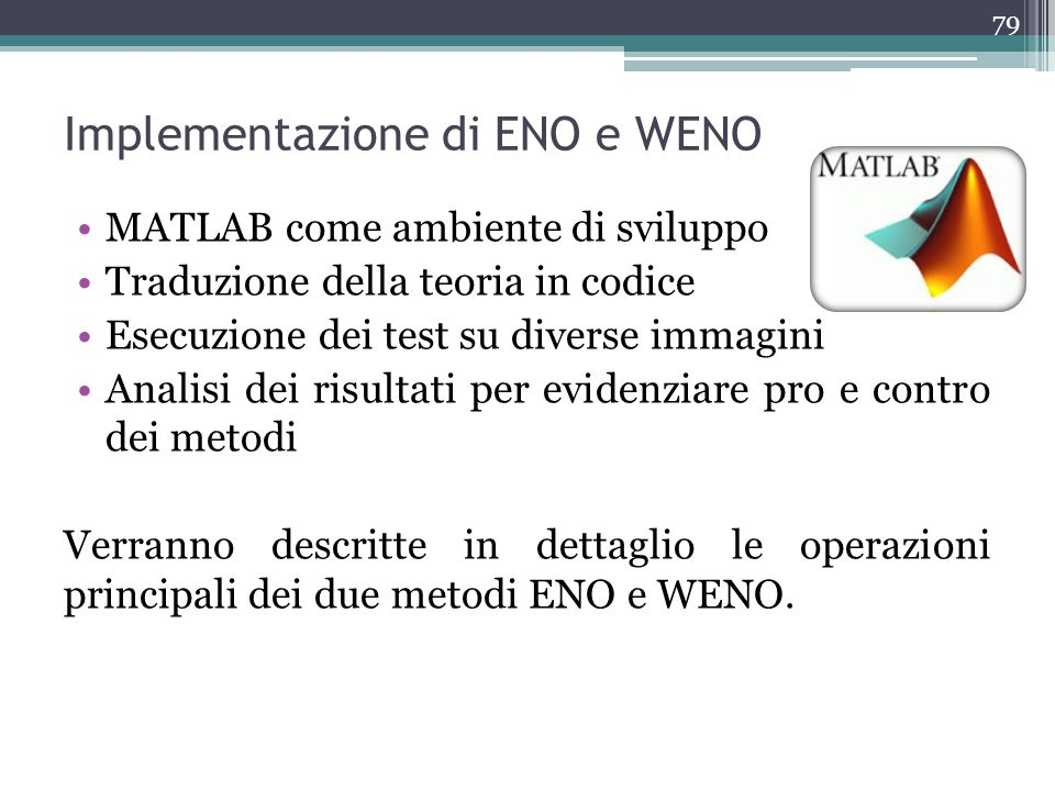 Implementazione di ENO e WENO