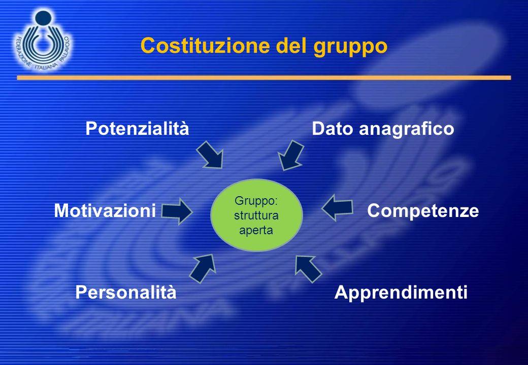 Costituzione del gruppo