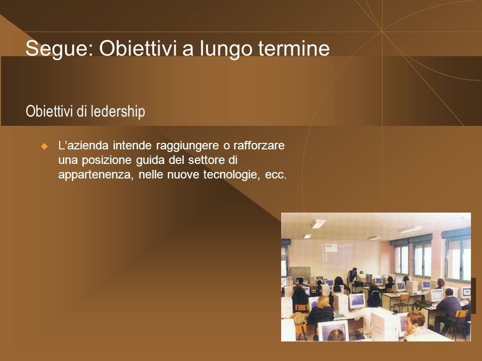 Obiettivi di ledership