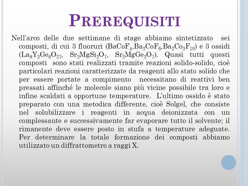 Prerequisiti