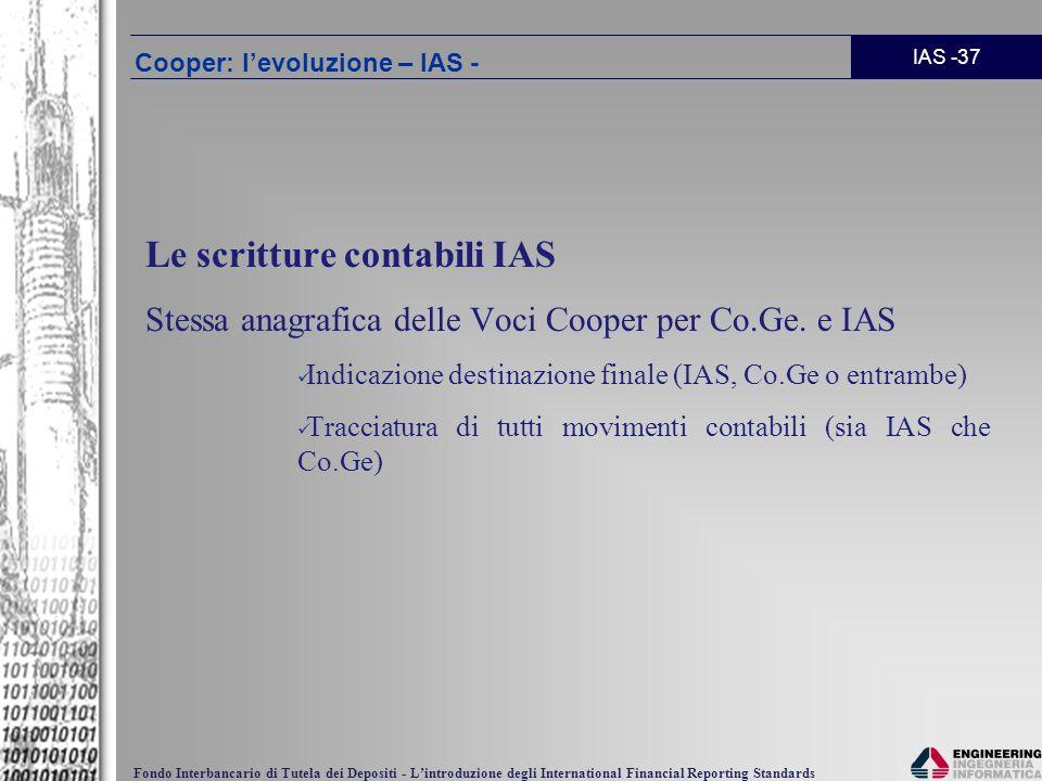 Cooper: l'evoluzione – IAS -