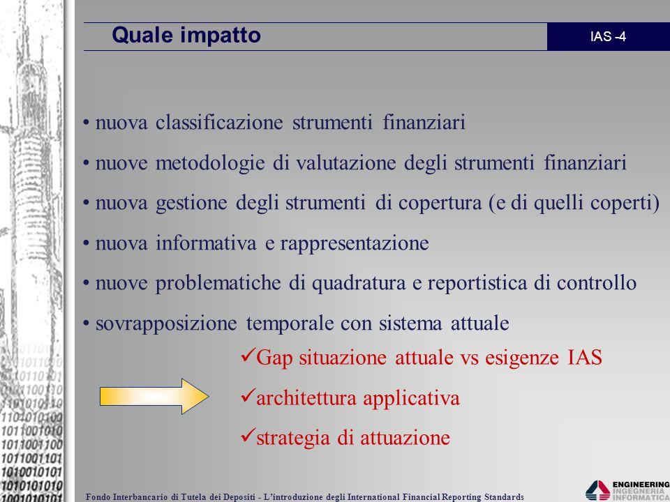 Quale impatto nuova classificazione strumenti finanziari. nuove metodologie di valutazione degli strumenti finanziari.