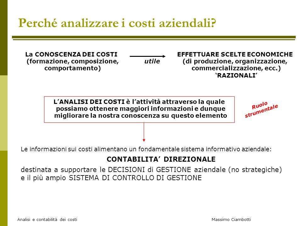 Perché analizzare i costi aziendali