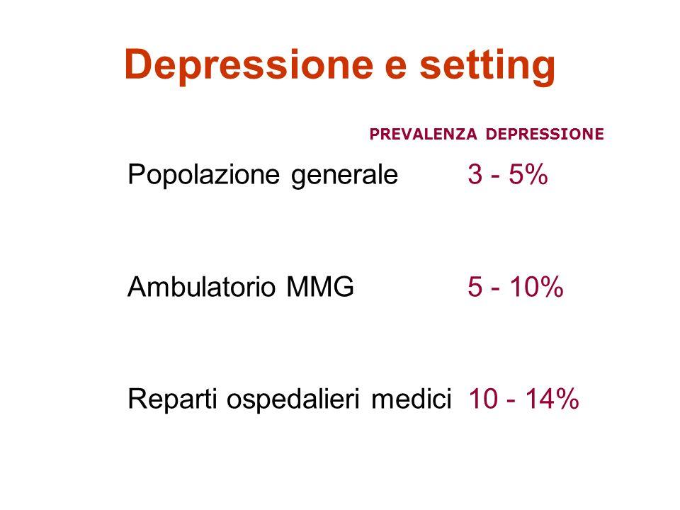 PREVALENZA DEPRESSIONE