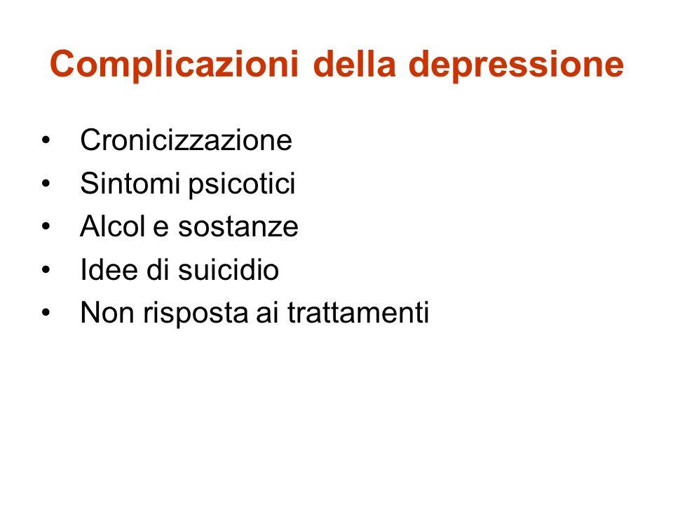 Complicazioni della depressione