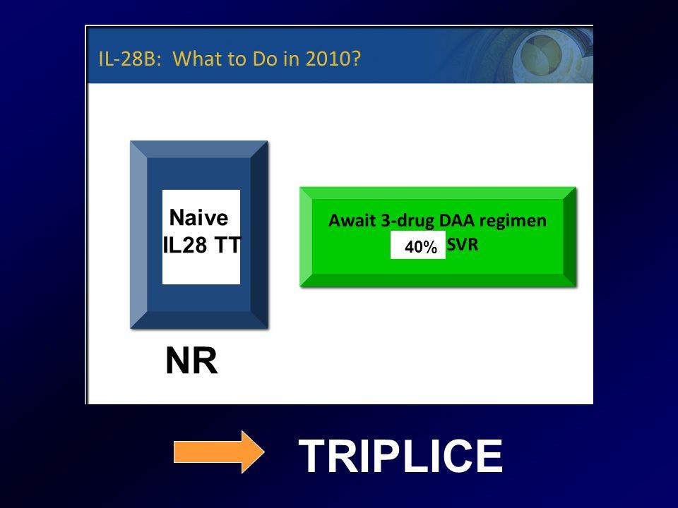 Naive IL28 TT 40% NR TRIPLICE
