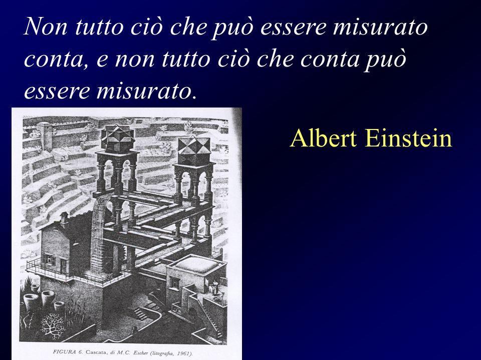 Non tutto ciò che può essere misurato conta, e non tutto ciò che conta può essere misurato.
