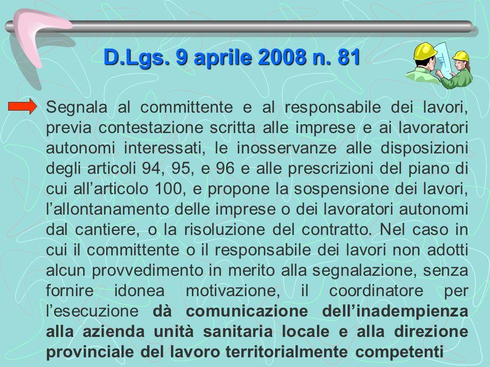 D.Lgs. 9 aprile 2008 n. 81