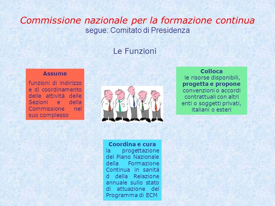 Commissione nazionale per la formazione continua segue: Comitato di Presidenza