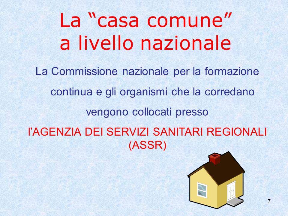 La casa comune a livello nazionale