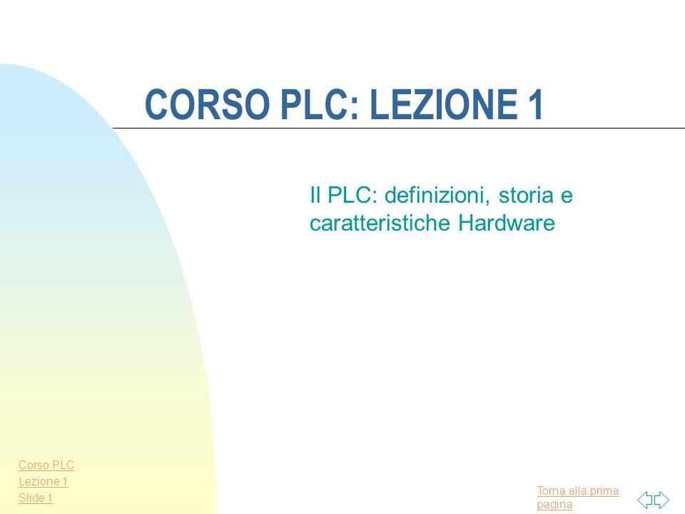 Il PLC: definizioni, storia e caratteristiche Hardware