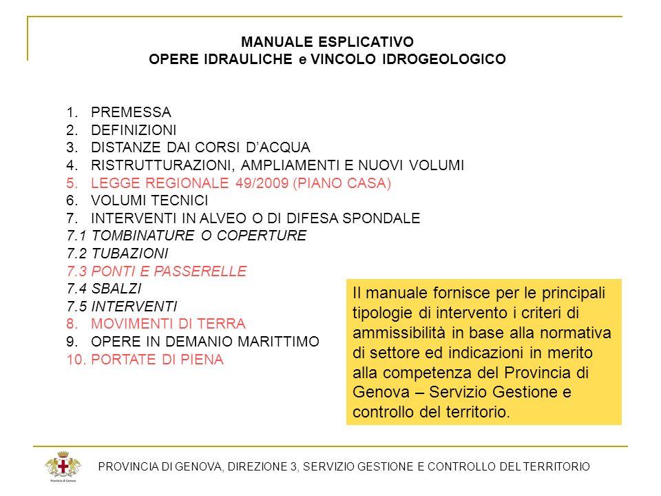 OPERE IDRAULICHE e VINCOLO IDROGEOLOGICO