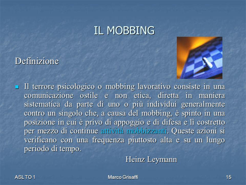 IL MOBBING Definizione
