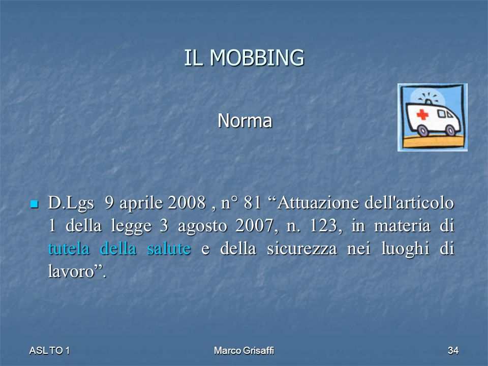 IL MOBBING Norma.